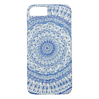 blue art iphone case