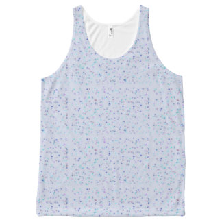 Blue artsy design All-Over-Print tank top