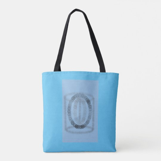 Blue artsy design tote bag