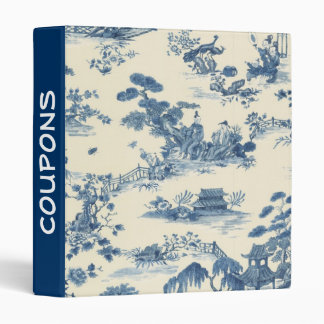 Blue Asian Toile Coupon Binder