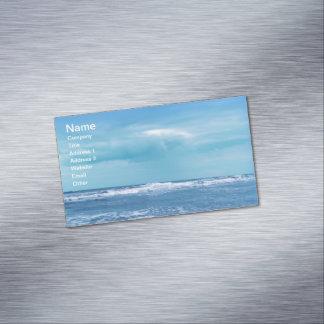 Blue Atlantic Ocean Waves Clouds Sky Photograph Magnetic Business Card