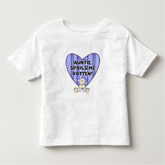 Blue Auntie Spoils Me Toddler T-shirt