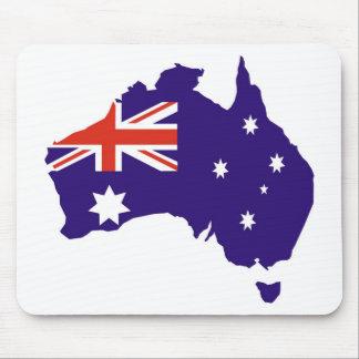 Blue Aussie Map Flag Mouse Pad