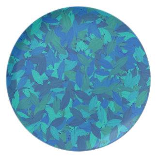 Blue autumn party plates