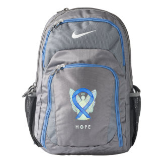 Blue Awareness Ribbon Angel Custom Backpack
