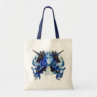 Blue Awesomeness with Unicorns Tote Bag