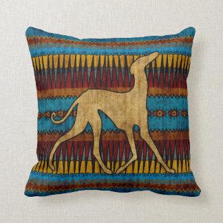 Blue Aza Throw Pillow