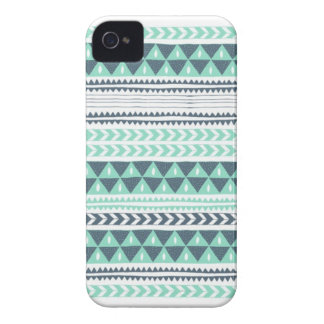 Blue Aztec iPhone case