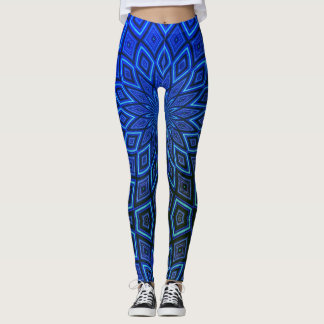 Blue Aztec Leggings