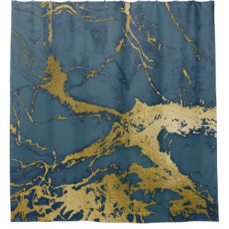 Blue Azul and Gold Marble