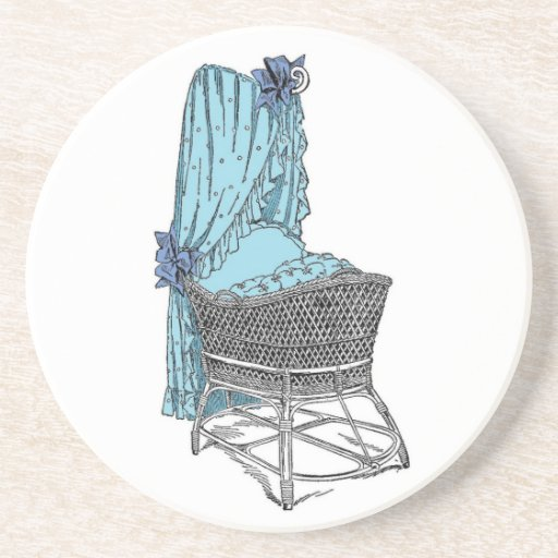 Blue Baby Bassinet Coaster