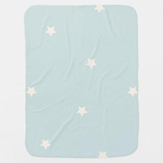 Blue Baby Blanket Simple Stars