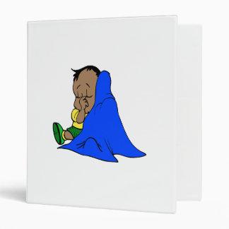 Blue baby blankie 3 ring binders