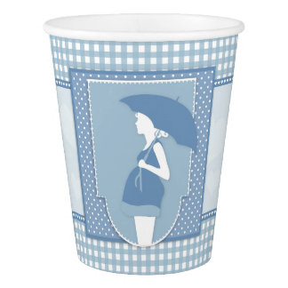 Blue Baby Boy Baby Shower Paper Cups