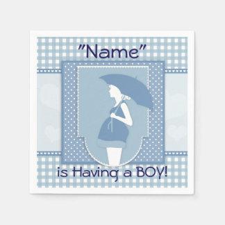 Blue Baby Boy Baby Shower Paper Napkins