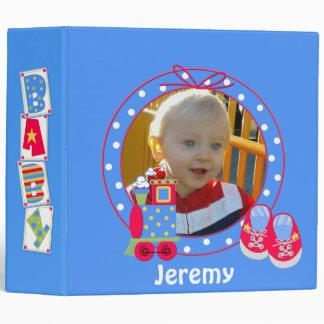 Blue Baby Boy Photo Album Binder