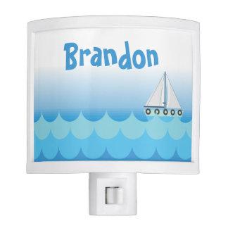 Blue Baby Boy Sailing Boat Sailor Ocean Sea Lake Night Lites