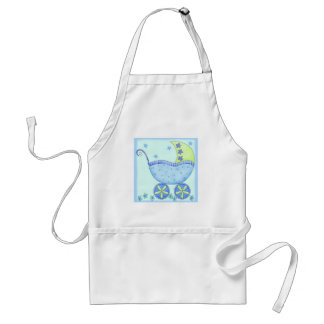 Blue Baby Buggy Carriage Baby Customized Apron