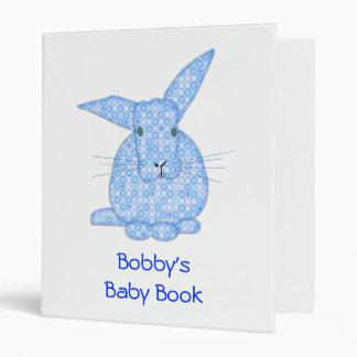 Blue Baby Bunny Binders