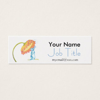 blue baby bunny business card