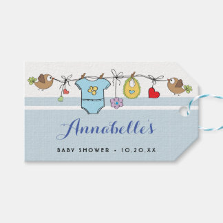 Blue Baby Clothes | Personalized Gift Tag