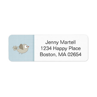 Blue Baby Clothes | Return Address Label