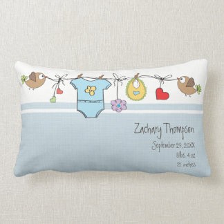 Blue Baby Clothes | Throw Pillow