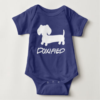 Blue Baby Dachshund Doxified Bodysuit