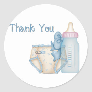 Blue Baby Diaper & Bottle Stickers