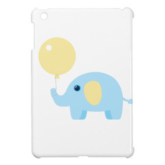 blue baby elephant with balloon iPad mini case