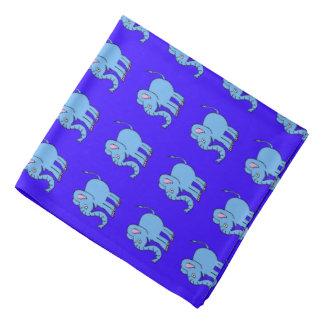 blue baby elephants bandana