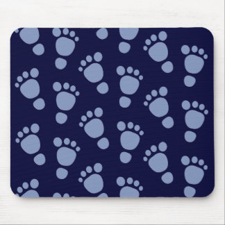 Blue Baby Footprint It's A Boy! Pattern Mousepad