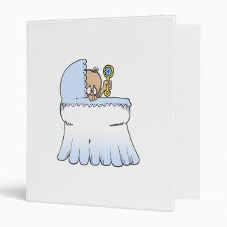 blue baby in bassinet binders
