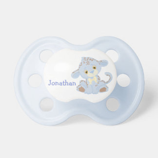 Blue Baby Leopard Personalized Pacifier
