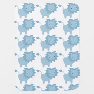 Blue Baby Lion Baby Blanket