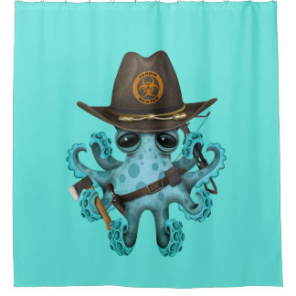 Blue Baby Octopus Zombie Hunter