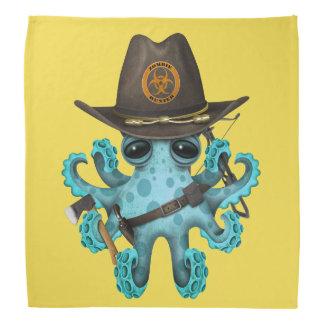 Blue Baby Octopus Zombie Hunter Bandana