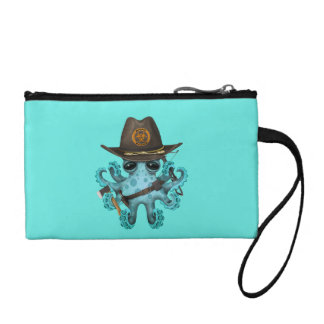 Blue Baby Octopus Zombie Hunter Coin Purse
