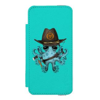 Blue Baby Octopus Zombie Hunter Incipio Watson™ iPhone 5 Wallet Case