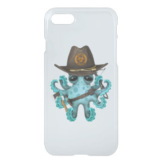 Blue Baby Octopus Zombie Hunter iPhone 8/7 Case