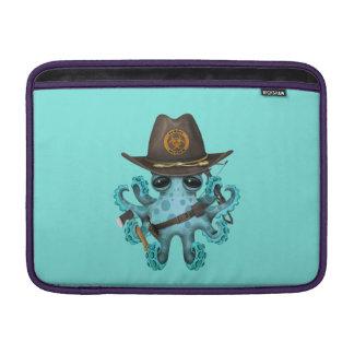 Blue Baby Octopus Zombie Hunter MacBook Sleeve