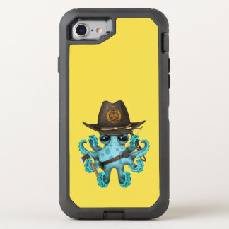 Blue Baby Octopus Zombie Hunter OtterBox Defender iPhone 8/7 Case