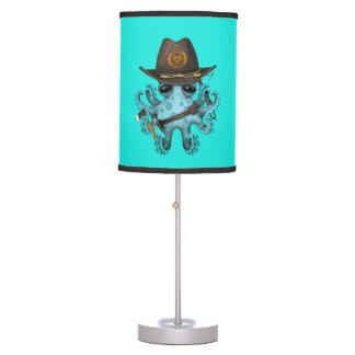 Blue Baby Octopus Zombie Hunter Table Lamp