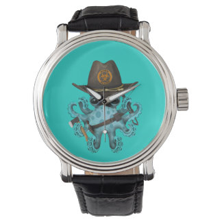 Blue Baby Octopus Zombie Hunter Watch