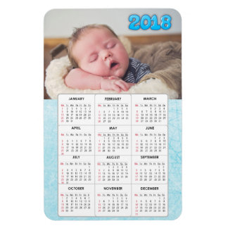 Blue Baby Photo 2018 Calendar Refrigerator Magnet