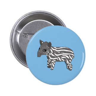 blue baby tapir 2 inch round button