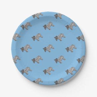 blue baby tapir 7 inch paper plate