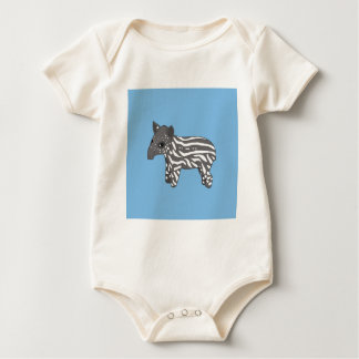 blue baby tapir baby bodysuit