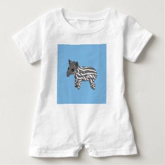 blue baby tapir baby romper