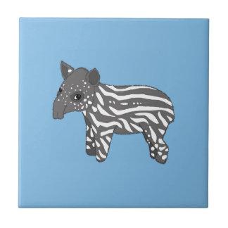 blue baby tapir ceramic tile